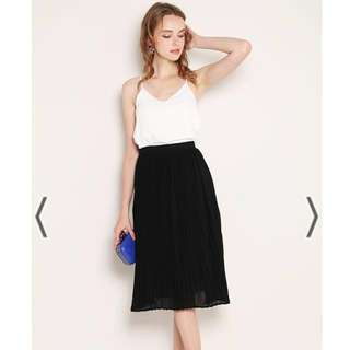 SSD Maren Pleat Skirt Black