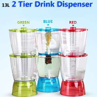 13L 2 Tier Drink dispenser BPA FREE  Rm76 Inc pos semenanjung  Pm Wasap 0176725125