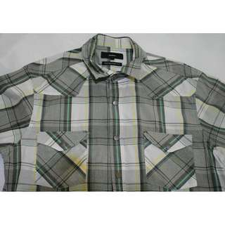 BOSSINI BUTTON-DOWN POLO SHIRT SIZE LARGE