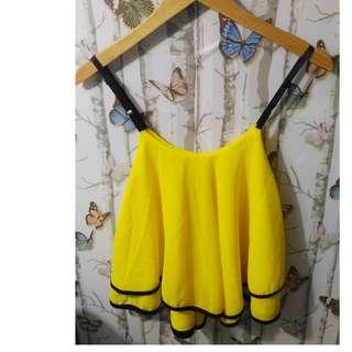 atasan import bangkok tanktop shine yellow
