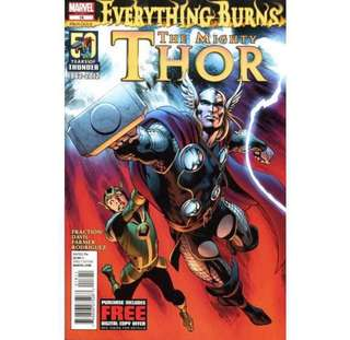 MIGHTY THOR / JOURNEY INTO MYSTERY: EVERYTHING BURNS (2011) Complete set