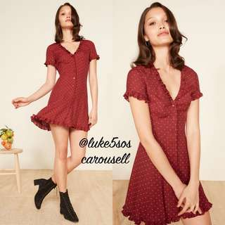 INSTOCKS Dorothy polka dot dress - red