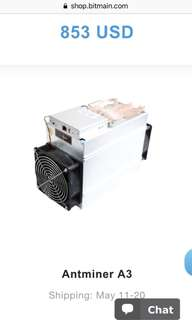 Antminer A3 螞蟻礦機 A3