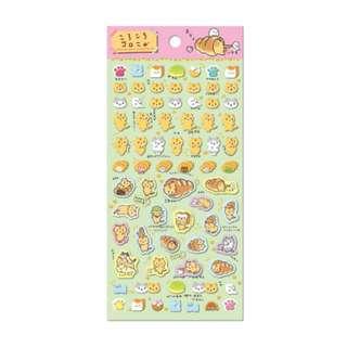 Only 4 Instock! (Mix & Match)*San-X Japan - Corone Pan to Hitomichiri Neko theme Stickers (Dance)
