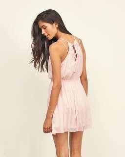 A&F Pink Chiffon Dress