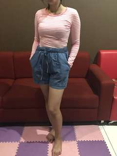Pink White Top