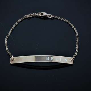 AUTIUM NAME PLATE BRACELET AG925 SILVER PLATE WITH ROSE GOLD 2018-38