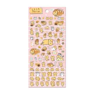 Only 3 Instock! (Mix & Match)*San-X Japan - Corone Pan to Hitomichiri Neko theme Stickers (Pink)