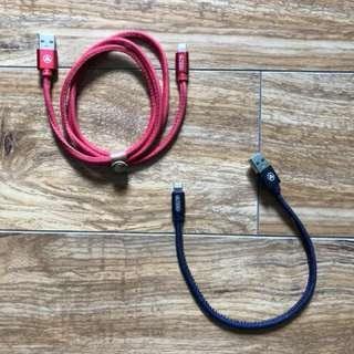 iPhone lightening cable (Denim)
