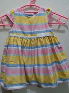 Mothercare edisi spesial dress yellow fit to 3month sd 12month