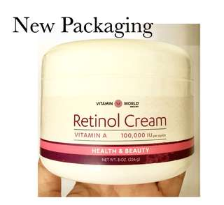 Original Vitamin World Retinol Cream, 8 Ounce