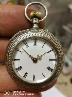 古董銀殼上鏈陀表