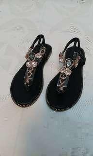 🚚 波西米亞風 寶石涼鞋