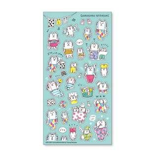 Only 3 Instock! (Mix & Match)*Mind Wave Japan - Goro Goro Nyansuke Laundry theme Stickers
