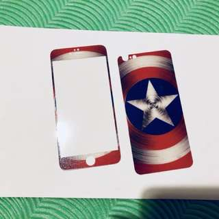iPhone 6plus glass protector front and back with design
