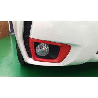 【騰信車體包膜】Subaru Forester 霧燈護罩3M1080亮紅包膜