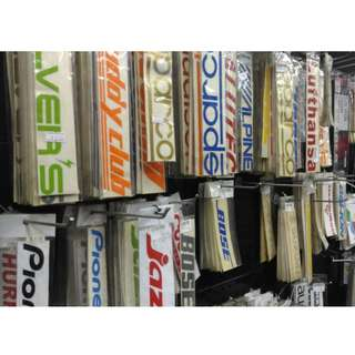 STICKER DECAL-STOCK CLEARANCE