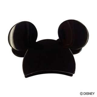 Japan Disney Accommode Mickey Mouse Black Acrylic Hair Clip