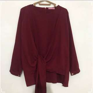 Blouse maroon local.id
