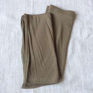 Long ribbed maxi skirt