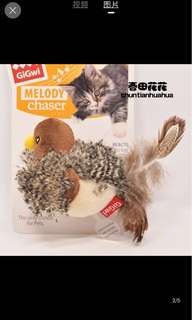 🚚 貓咪也瘋狂!仿鳥叫聲啾啾鳥貓玩具