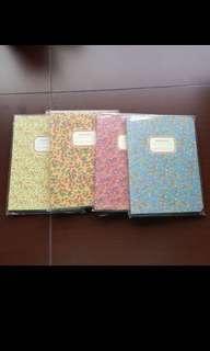 Four Cute Floral Notebook Bundle