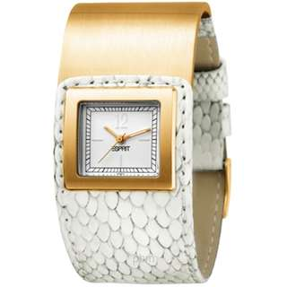 Esprit Square Button Ladies' Watch Gold - ES101552012