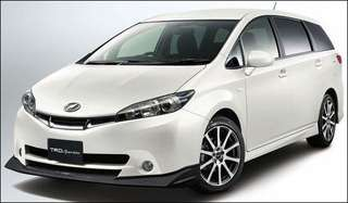 Toyota Wish Sunshades