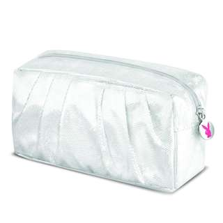 PLAYBOY MATALLIC SILVER MAKEUP BAG ( READY STOCK )
