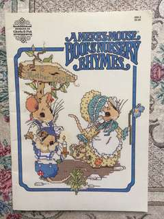 A Merry-Mouse Book of Nursery Rhymes Cross Stitch Book