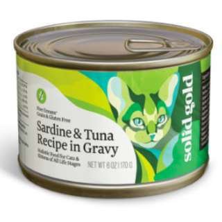 SOLIDGOLD FIVE OCEAN SARDINE & TUNA - 6 oz. (Pack of 16)