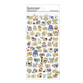 Only 6 Instock! (Mix & Match)*Mind Wave Japan - Summer Selection Shiba Inu theme Stickers