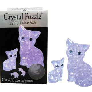 *Cat&Kitten*Brand New 3D Crystal Puzzle