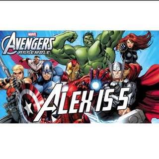 Marvel Avengers Personalised Birthday Banner