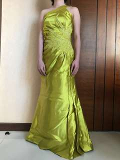 Evening gown by designer Surabaya