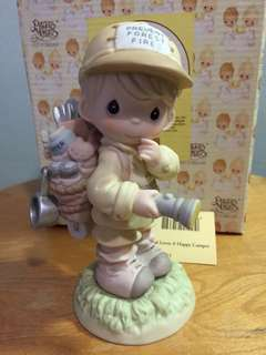 Buy 3 Get 1 Free : Precious Moments Boy with Haversack figurine: God loves a happy camper