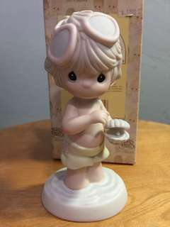 Buy 3 Get 1 Free : Precious Moments Boy with Pearl figurine : There is no greater treasure than to have a Friend like you