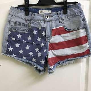 美國購入美國國旗牛仔短褲