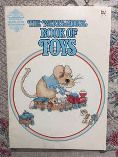 The Merry-Mouse Book of Toys Cross Stitch Book