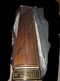清清舊料古箏👍🏼21弦 160Cm 連套 古筝架 可議價
