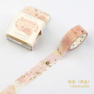 Only 1 Instock! (Mix & Match)*Gold Sparkle Pink Theme Washi Tape