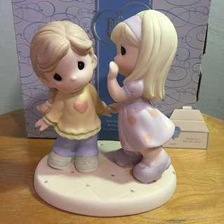 Buy 3 Get 1 Free : Precious Moments Girls Figurine : Friends Listen With Their Hearts
