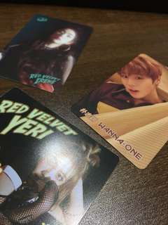Wannaone/ BTS/ Twice/ Red Velvet/ Got7/ Block B/ Infinite YES CARD