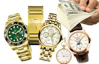 High buy in price for high end watches Cash!!