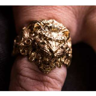 ROARING LION KING OF JUNGLE RING (Stainless Steel - see image 4 for representation)