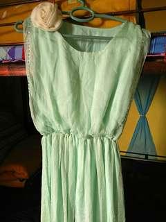 Gaun cantik mint gratis jilbab mint