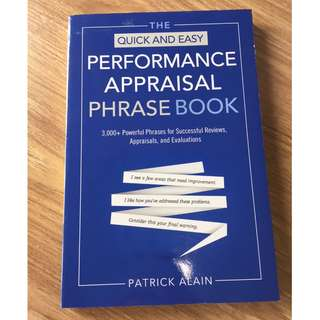 PERFORMANCE APPRAISAL PHRASE BOOK (GOOD CONDITION)