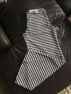 Kookai Stripe Midi Dress Size 1