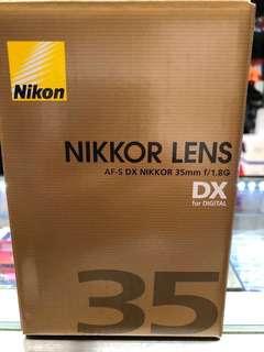 Nikon lens dx 35mm f1.8g