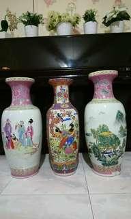 Porcelain Vase chinese vintage deco